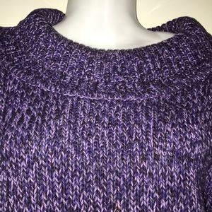 Rafaella Purple Cowl Neck